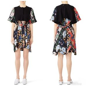 Carven Abstract Art Print Midi Dress 38 6